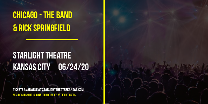 Chicago - The Band & Rick Springfield [POSTPONED] at Starlight Theatre